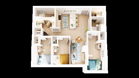 3 Bedroom 2 Bathroom C8