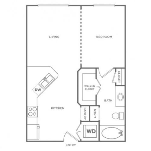 Floor Plan 1 | Energy Corridor Luxury Apartments | Briar Forest Lofts