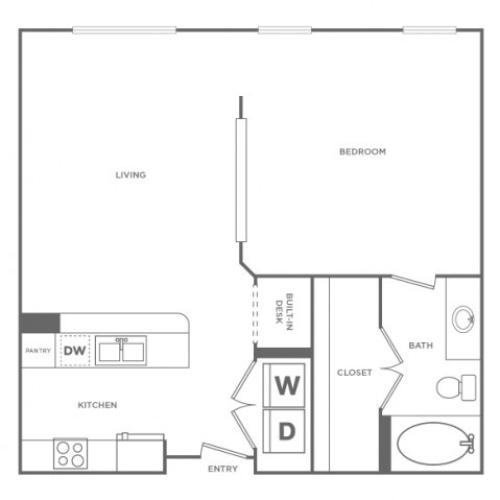 Floor Plan 3 | Apartments In Energy Corridor Houston Texas | Briar Forest Lofts
