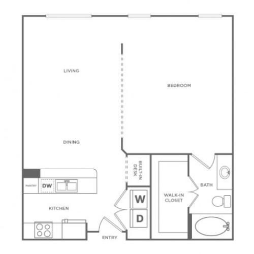 Fairfield | 1 bed 1 bath | from 843 square feet