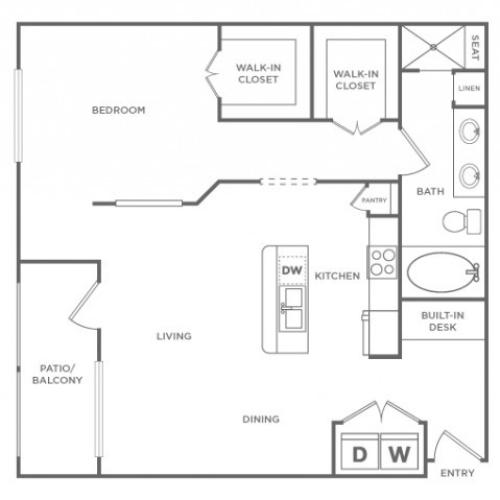 Floor Plan 6 | Energy Corridor Luxury Apartments | Briar Forest Lofts