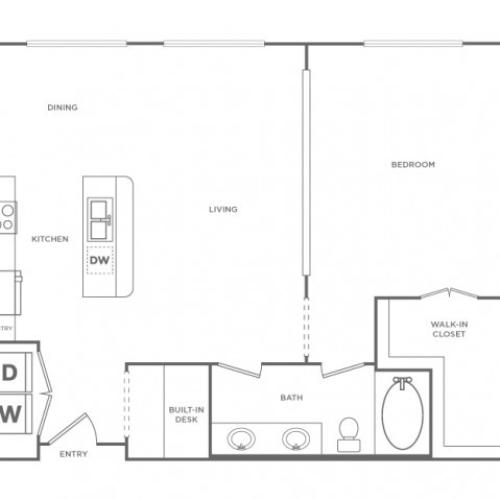 Floor Plan 7 | Energy Corridor Apartments Houston | Briar Forest Lofts