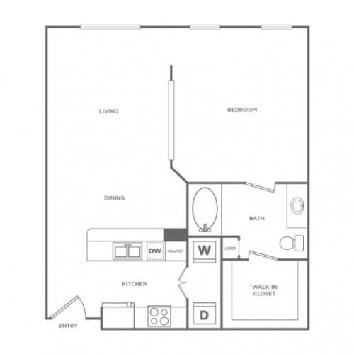 Windsor II | 1 bed 1 bath | from 775 square feet