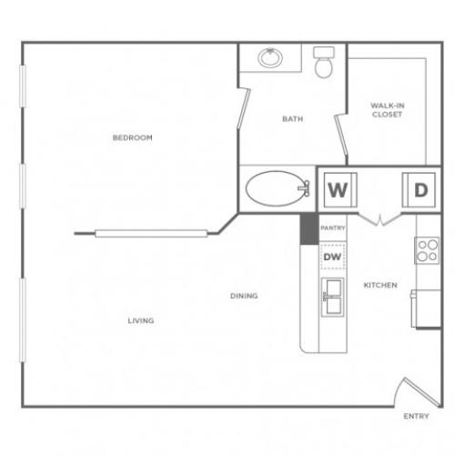 Floor Plan 11 | Energy Corridor Luxury Apartments | Briar Forest Lofts