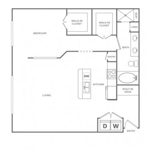 Grand Adams II | 1 bed 1 bath | from 925 square feet