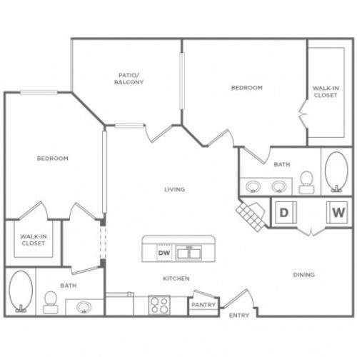 Hampton | 2 bed 2 bath | from 1036 square feet