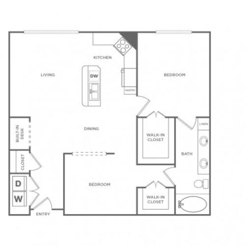 Floor Plan 14 | Apartments In Houston Energy Corridor Area | Briar Forest Lofts