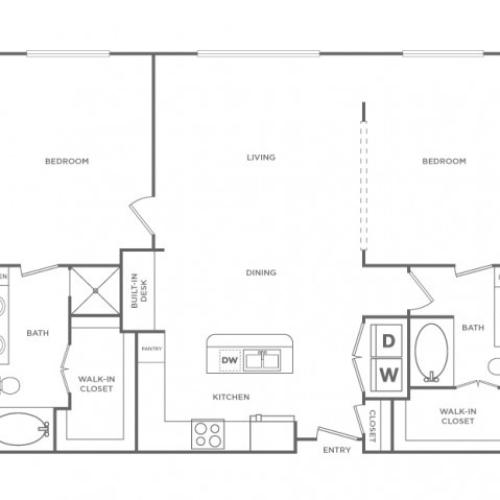 Floor Plan 15 | Houston Energy Corridor Apartments | Briar Forest Lofts