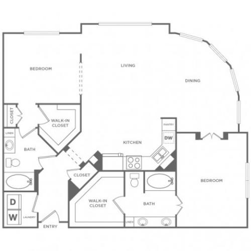 Floor Plan 16 | Energy Corridor Luxury Apartments | Briar Forest Lofts