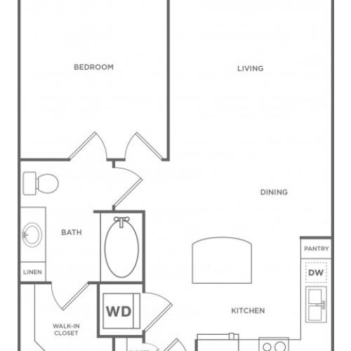 Floor Plan 1 | Energy Corridor Luxury Apartments | Eclipse