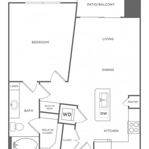 Floor Plan 2 | Apartments In Energy Corridor Houston Texas | Eclipse