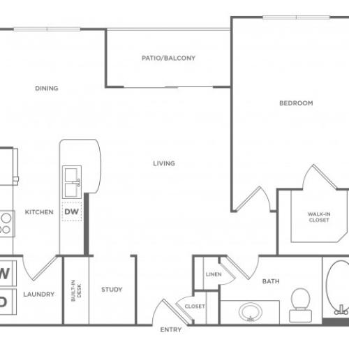 Floor Plan 3 | Energy Corridor Houston Apartments | Eclipse
