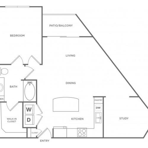 Floor Plan 4 | Energy Corridor Apartments For Rent | Eclipse