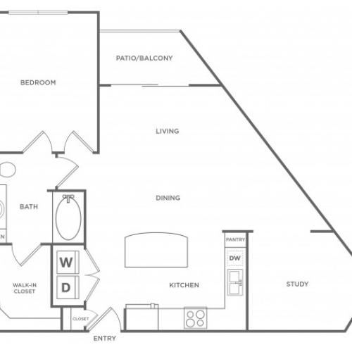 Floor Plan 5 | Energy Corridor Apartments Houston | Eclipse