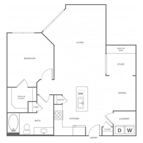 Floor Plan 7 | Apartments In Energy Corridor Houston Texas | Eclipse