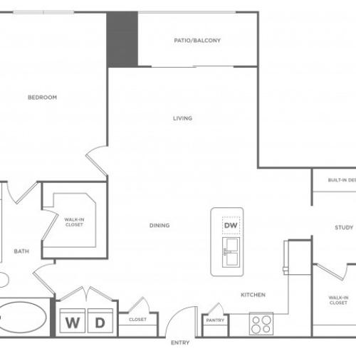 Floor Plan 8 | Energy Corridor Houston Apartments | Eclipse