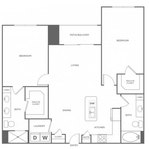 Floor Plan 9 | Energy Corridor Apartments For Rent | Eclipse