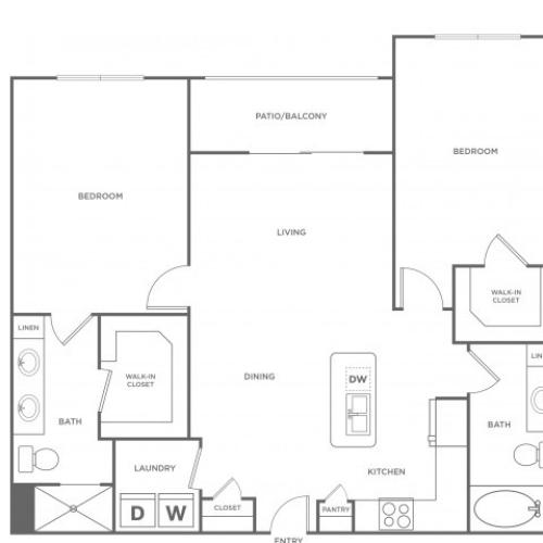 Floor Plan 10 | Energy Corridor Apartments Houston | Eclipse