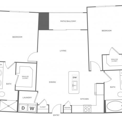 Floor Plan 11 | Energy Corridor Luxury Apartments | Eclipse