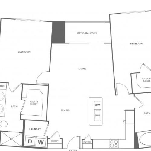Floor Plan 12 | Apartments In Energy Corridor Houston Texas | Eclipse