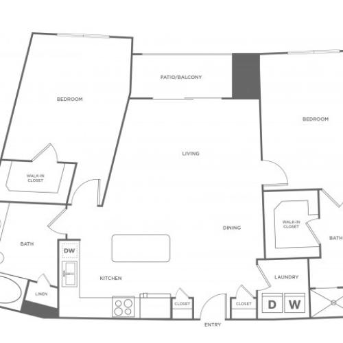 Floor Plan 13 | Energy Corridor Houston Apartments | Eclipse