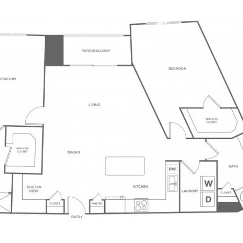 Floor Plan 14 | Energy Corridor Apartments For Rent | Eclipse