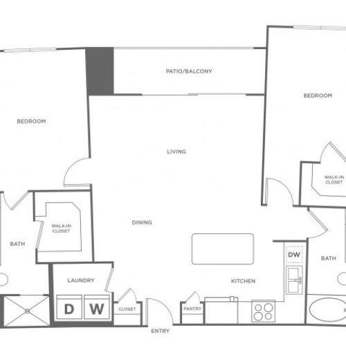 Floor Plan 15 | Energy Corridor Apartments Houston | Eclipse