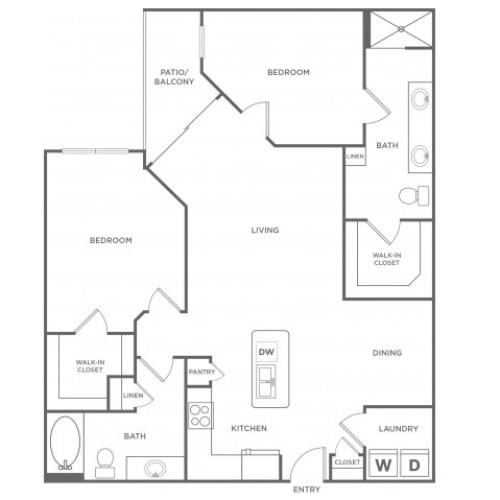 Floor Plan 16 | Energy Corridor Luxury Apartments | Eclipse