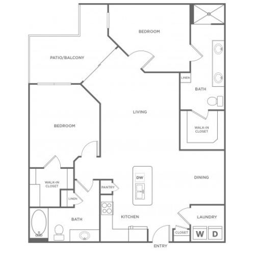 Floor Plan 17 | Apartments In Energy Corridor Houston Texas | Eclipse