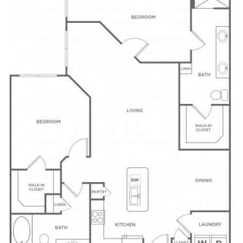 C2s | 2 bed 2 bath | from 1295 square feet