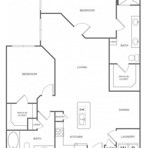 Floor Plan 18 | Energy Corridor Houston Apartments | Eclipse