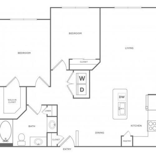Floor Plan 19 | Energy Corridor Apartments For Rent | Eclipse