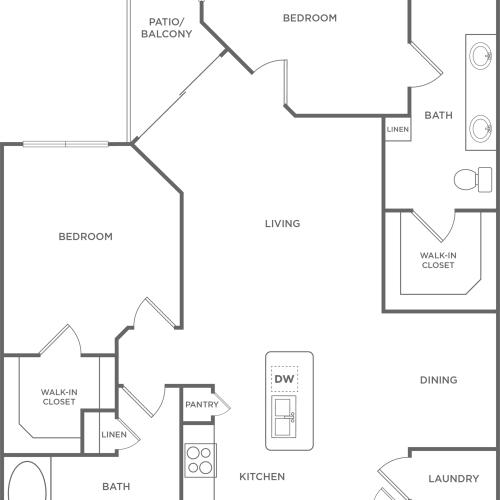 Floor Plan 20 | Energy Corridor Apartments Houston | Eclipse