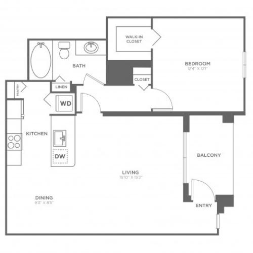 Floor Plan 1 | Luxury Apartments in Delray Beach | The Franklin