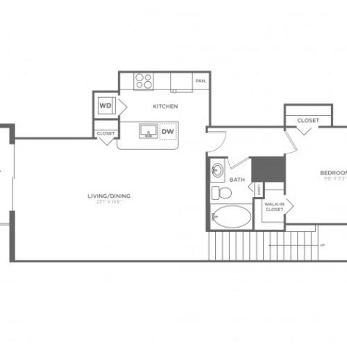 Floor Plan 2 | Luxury Apartments In Delray Beach FL | The Franklin