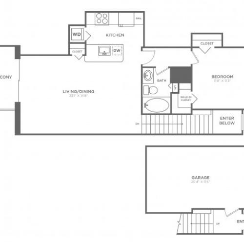 Delray | 1 bed 1 bath | from 829 square feet