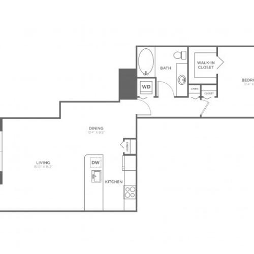 Floor Plan 4 | Delray Beach Luxury Apartments | The Franklin