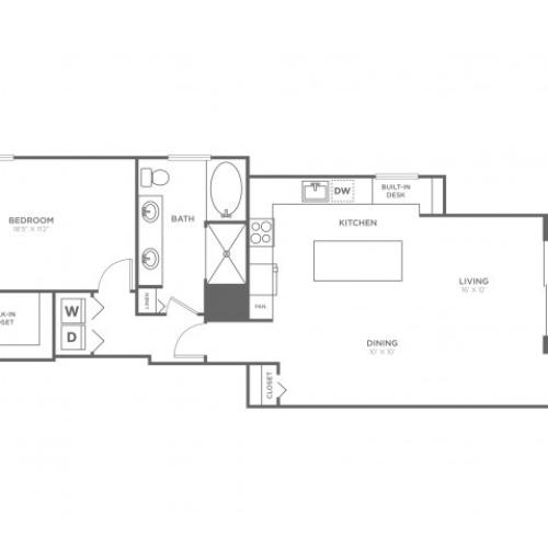 Floor Plan 5 | Delray Beach Apartments | The Franklin