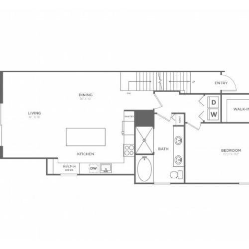 Floor Plan 6   Luxury Apartments in Delray Beach   The Franklin