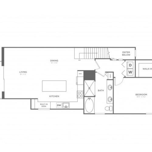 Hollywood | 1 bed 1 bath | from 1057 square feet