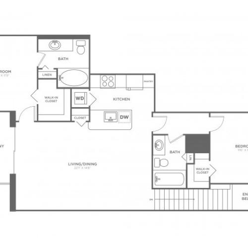 Floor Plan 14 | Delray Beach Luxury Apartments | The Franklin