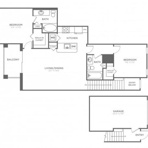 Riviera   2 bed 2 bath   from 1098 square feet