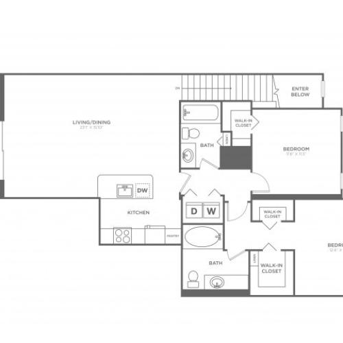 Floor Plan 16 | Luxury Apartments in Delray Beach | The Franklin