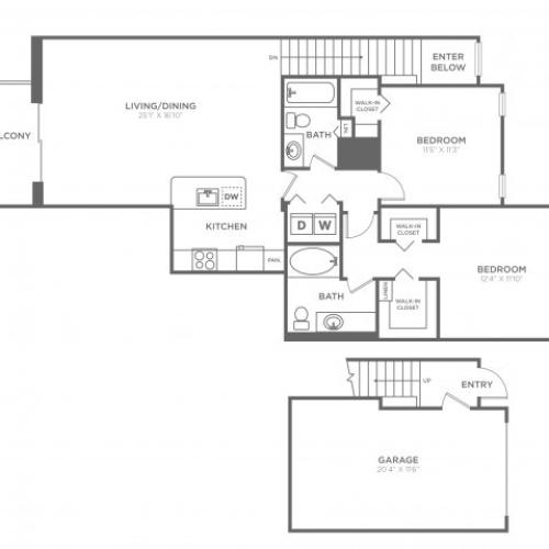 Floor Plan 17 | Luxury Apartments In Delray Beach FL | The Franklin