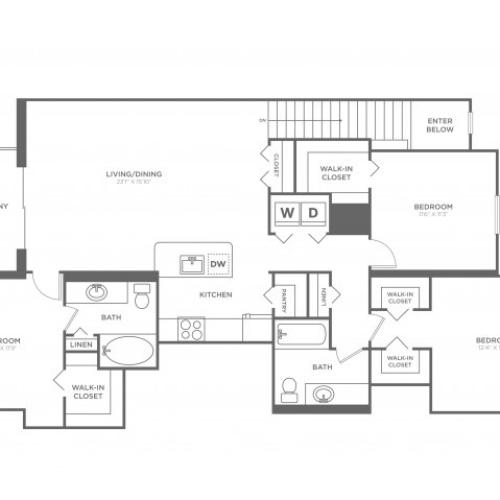 Floor Plan 21 | Luxury Apartments in Delray Beach | The Franklin
