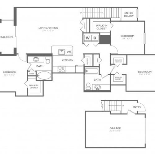 Floor Plan 22 | Luxury Apartments In Delray Beach FL | The Franklin