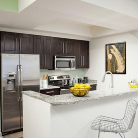 Modern Kitchen | Delray Beach Apartments | The Franklin