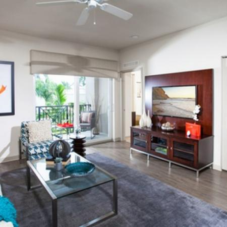 Spacious Living Area | Delray Beach Luxury Apartments | The Franklin