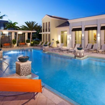 Resort Style Pool | Luxury Apartments in Delray Beach | The Franklin