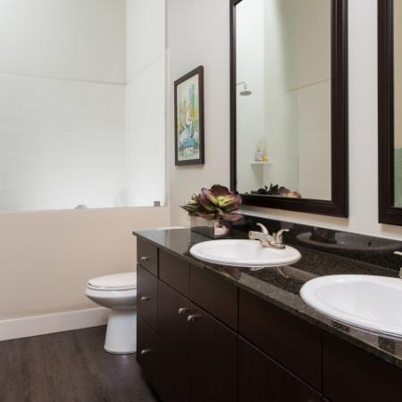 Spacious Master Bathroom | Oak Lawn Apartments For Rent In Dallas | 4110 Fairmount